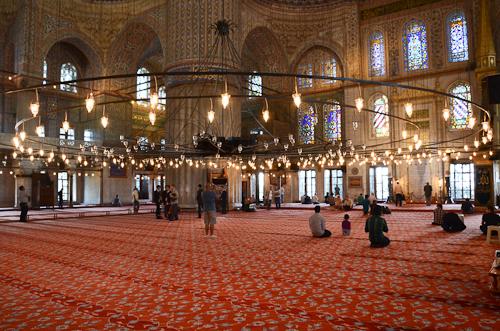 Istanbul_Blue Mosque interior