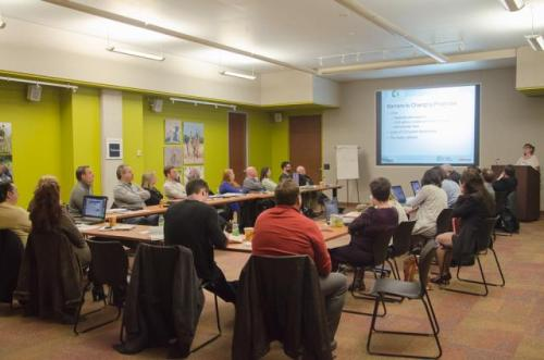 Enbrige-sponsored IDP charrette at Earth Rangers Centre. Photo by Stephanie Calvet.