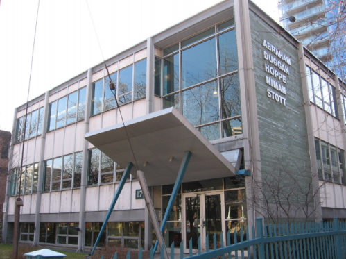 Existing building on site of 17 Dundonald Street: Commercial Travelers Association of Canada Building
