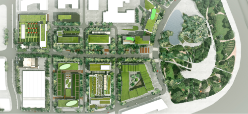 Site plan of 2015 PanAm/Parapan Games Athletes' Village (Canary District)