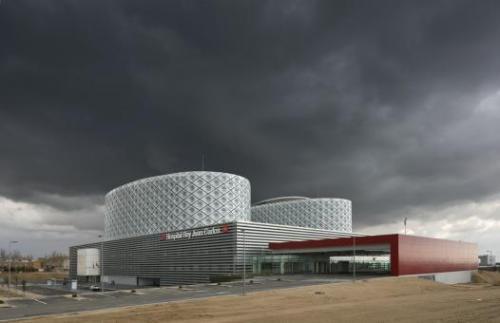 Rey Juan Carlos Hospital, Móstoles, Madrid. Architect: Rafael de La-Hoz Castanys. Photo by Duccio Malagamba.