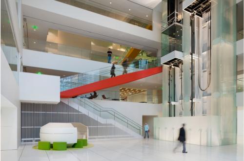 MIT Media Lab, Cambridge. MA. Architect: Maki & Associates with Leers Weinzapfel. Photo by Anton Grassl.