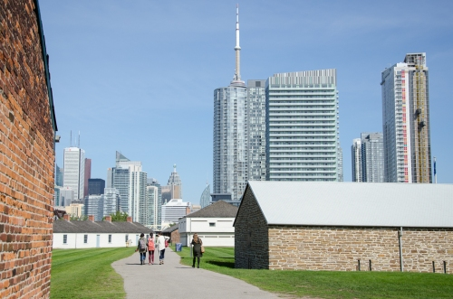 Existing Fort York site with Toronto's skyline beyond. Photo by Stephanie Calvet.