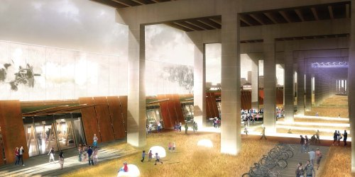 Fort York Visitor Centre winning competition drawings - Perspective