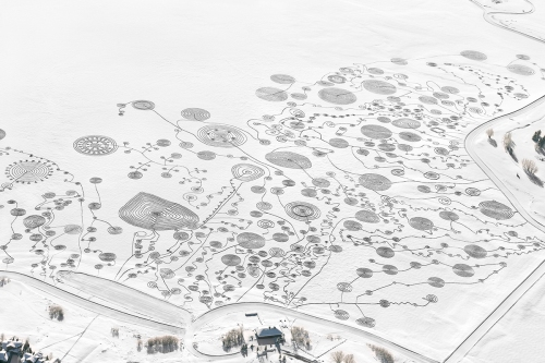 Sonja Hinrichsen. Snow Drawings at Catamount Lake, Colorado, 2013