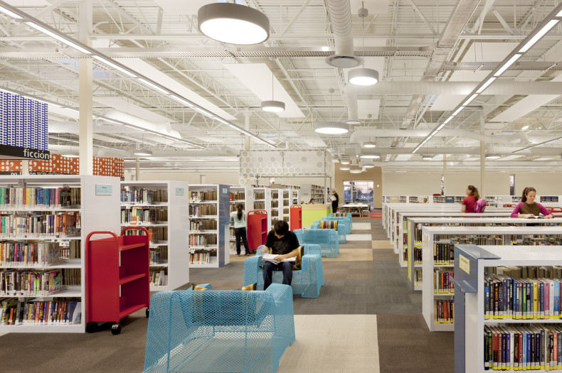 McAllen, Texas' new main library is located in a converted Walmart store. Photo