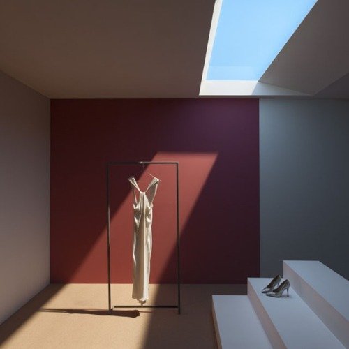 Interior space illuminated by high tech LED skylight from Coelux