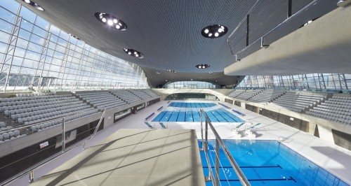 London Aquatics Centre: Olympics Swimming Venue, photo by Hufton+Crow